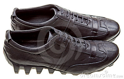Black sport shoes isolated on white