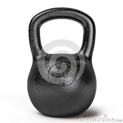 Black sporting kettlebell