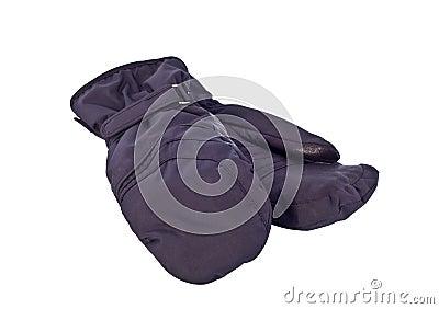 Black sports mitten