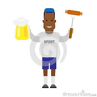 Black sportsman barbecue