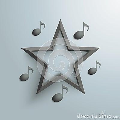 Black Star Music Notes