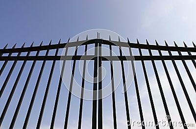 Black Steel Security Gates