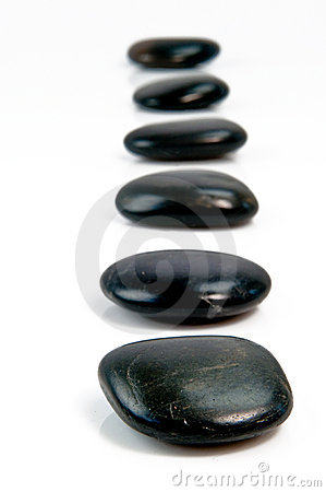 Black stepping stones