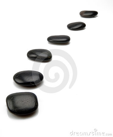 Free Black Stepping Stones Stock Images - 14516514