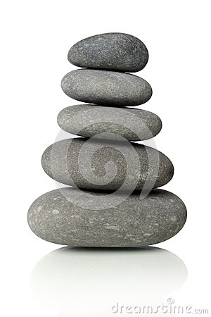 Black Stones Stacked Together