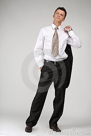 Black Suit And White Shirt Stock Photo - Image: 5528110