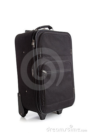 Black suitcase or luggage