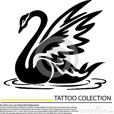 royalty free stock image black swan with crown tattoo design image 31754856. Black Bedroom Furniture Sets. Home Design Ideas