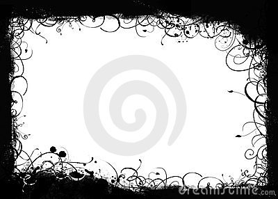 Black swirls grunge frame