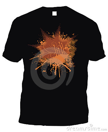 Black t-shirt whit logo
