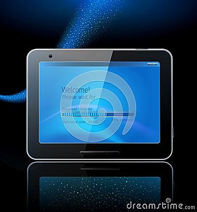 Black tablet pad