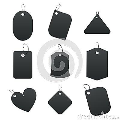 Black tags
