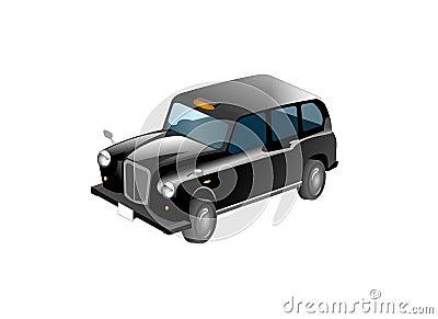 Black Taxi Cab Illustration