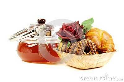 Black tea and sweets