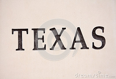 Texas sign on the wall