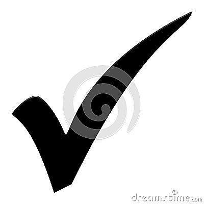 Free Black Tick Symbol Royalty Free Stock Images - 125332489