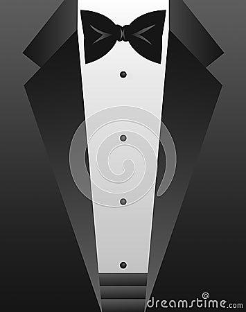 Free Black Tie Tuxedo/eps Royalty Free Stock Image - 1277836
