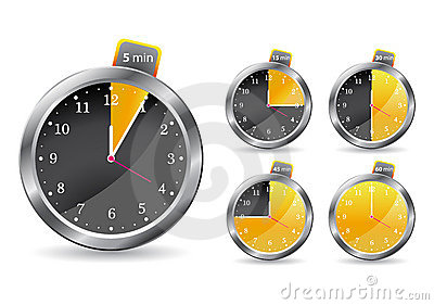 Black timer clock. vector illustration