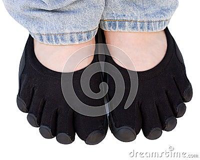 Black toe shoes isolated on white