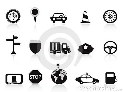 Black traffic icon