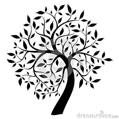Black Tree Stock Images - Image: 18622344 Oak Tree Clip Art