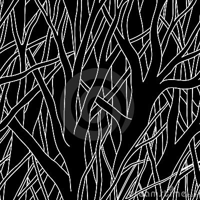 Free Black Trees (seamless Vector) Stock Image - 5066101