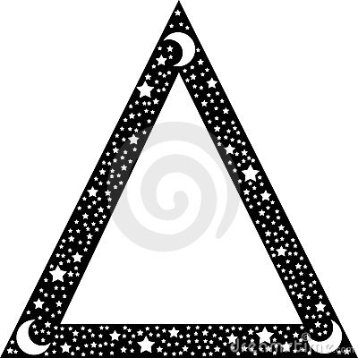 Black triangle border