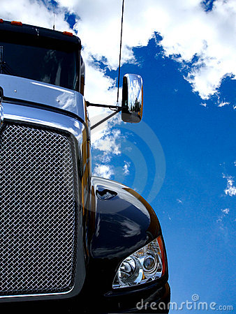 Black truck and blue sky