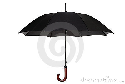 Black umbrella isolated