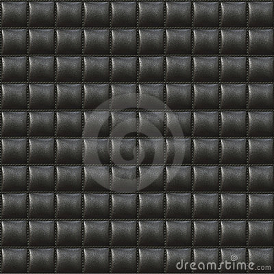 Black Upholstery Leather Seamless Pattern
