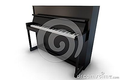 Black Upright piano