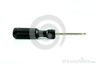 Black used screwdriver
