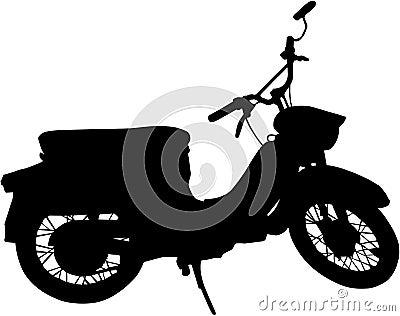 Black vector scooter