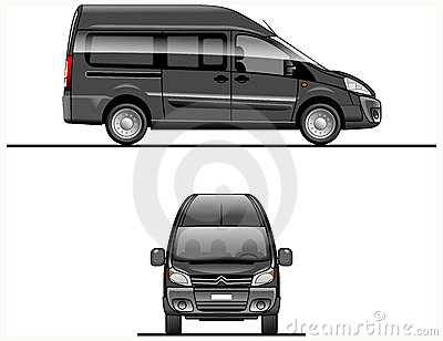 Black Vector Van