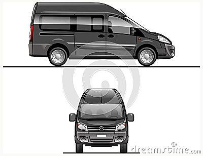 Black Vector Van