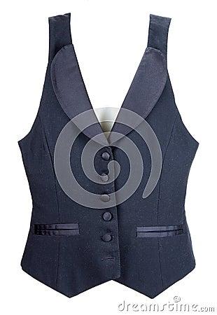 Black vest with button