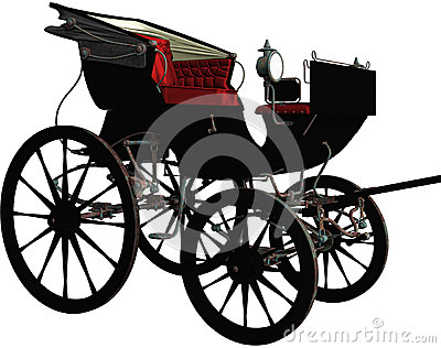 Black vintage carriage