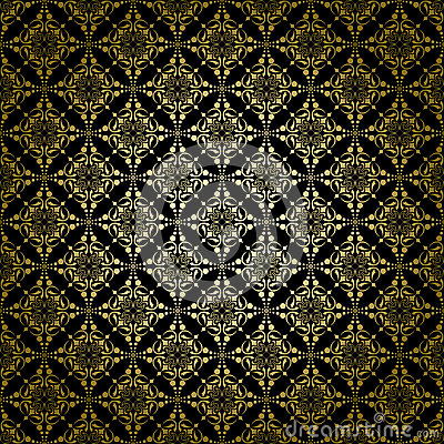 Black vintage vector pattern with radial gradient