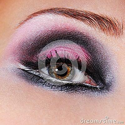 Free Black-violet Make-up Of Eyes Stock Images - 2186444