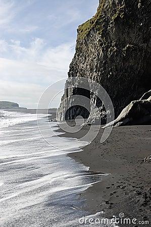 Black volcanic beach, Iceland.