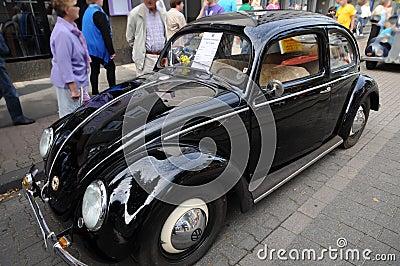 Black Volkswagen Beetle Editorial Photography