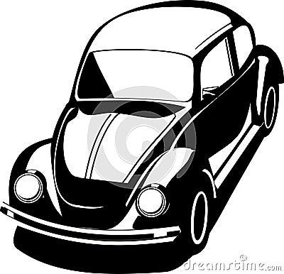 Black volkswagen bug