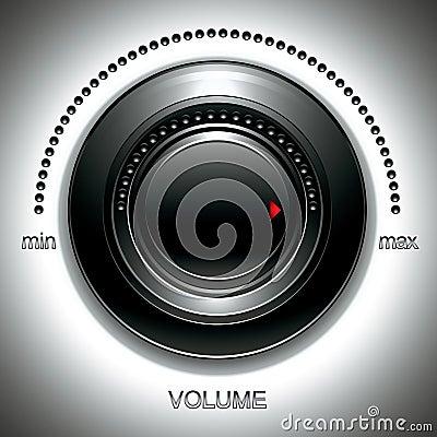 Black volume knob.