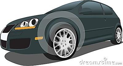 Black VW GTI Hatchback