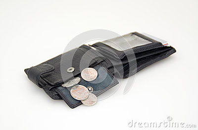 Black wallet for money