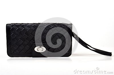 Black wallet purse