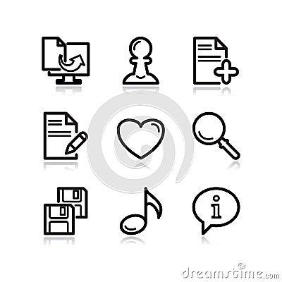 Black web icons, set 10