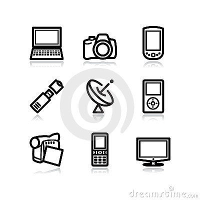 Black web icons, set 16