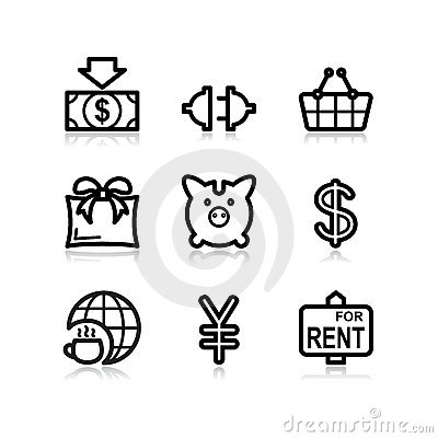Black web icons, set 24