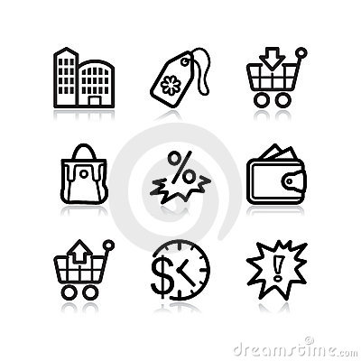 Black web icons, set 26